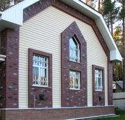 Облицовка фасадов сайдингом или кирпичом от УютСтройКараганда.