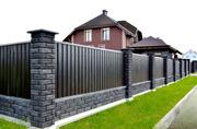 Строим забор из кирпича или блока.