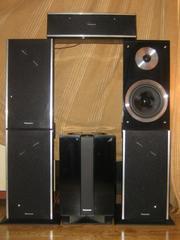 новые колонки от системы домашнего кинотеатра Panasonic модели SC- NC9